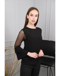 Блуза - код 0643 - 5 - црна