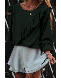 Блуза - код 6009 - путер зелена