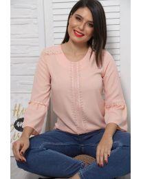Блуза - код 0629 - 4 - розова