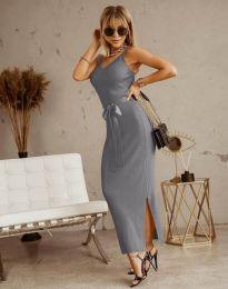 Фустан - код 6166 - сиво