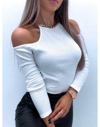 Блуза - код 4191 - бело