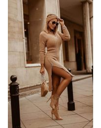 Фустан - код 6585 - кафеава