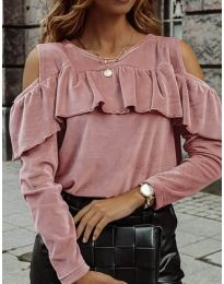 Блуза - код 4111 - пудра
