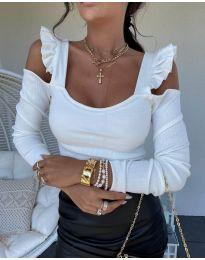 Блуза - код 2380 - 1 - бело