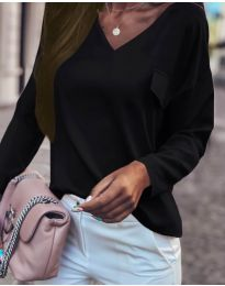 Блуза - код 0802 - црна