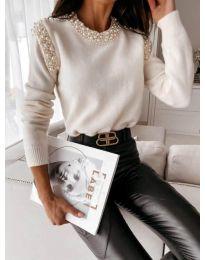 Блуза - код 0770 - бело