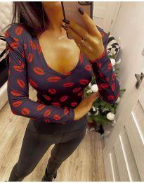 Блуза - код 4239 - црна