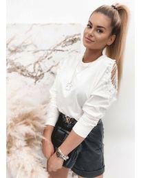 Блуза - код 4216 - бело