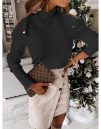 Блуза - код 1596 - 1 - црна