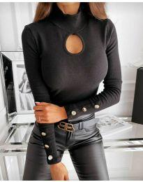 Блуза - код 9917 - 1 - црна