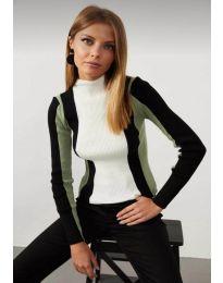 Блуза - код 0533 - 1 - шарено