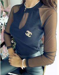 Блуза - код 1588 - 1 - црна