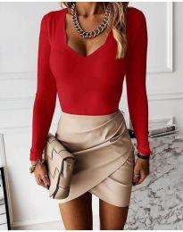 Блуза - код 4086 - црвена