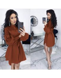 Фустан - код 6364 - кафеава