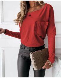 Блуза - код 4450 - 1 - црвена