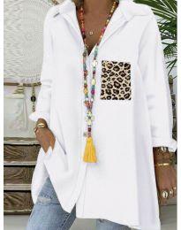 Блуза - код 5641 - бела