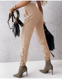 Панталони - код 3987 - кремова