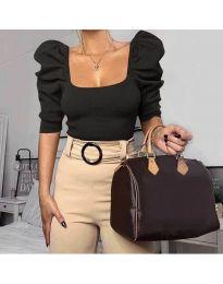 Блуза - код 9867 - црна