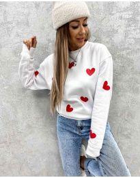 Блуза - код 3280 - 3 - бело