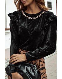 Блуза - код 4948 - црна