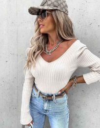 Блуза - код 5918 - бела