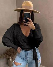 Блуза - код 3728 - црна
