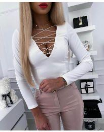 Блуза - код 4235 - бело