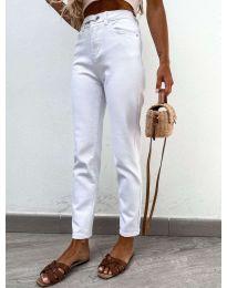Фармерки - код 4787 - 2 - бела