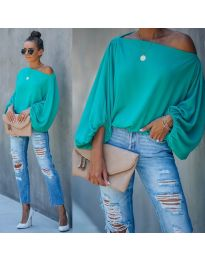 Блуза - код 5151 - тиркизна