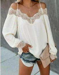 Блуза - код 0754 - 2 - бело
