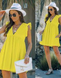 Фустан - код 7141 - жолта