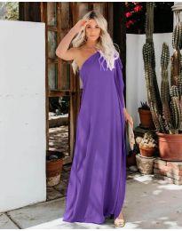 Фустан - код 6681 - темно виолетова