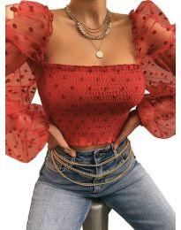 Блуза - код 4419 - црвена
