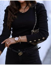 Блуза - код 4448 - 2 - црна