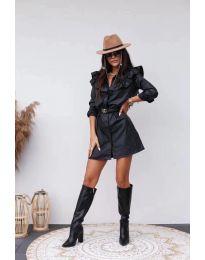 Фустан - код 3008 - 1 - црна