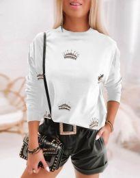 Блуза - код 1747 - бело