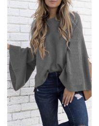 Блуза - код 076 - сиво