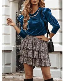 Блуза - код 4948 - тиркизна