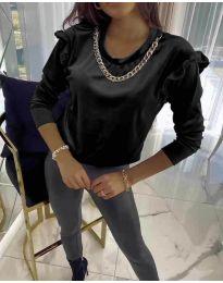 Блуза - код 6189 - црна