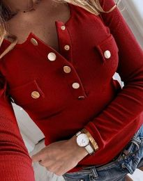 Блуза - код 11516 - 4 - црвена