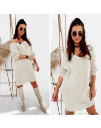 Фустан - код 6457 - кремова