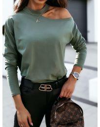 Блуза - код 41511 - путер зелена