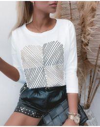 Блуза - код 4826 - бела