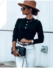 Блуза - код 9233 - црна