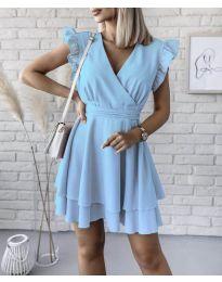 Фустан - код 409 - светло сина