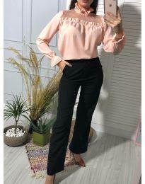 Блуза - код 0626 - 1 - розова
