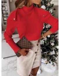 Блуза - код 1596 - 2 - црвена