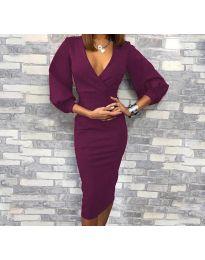 Фустан - код 8706 - 3 - темно виолетова
