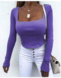 Блуза - код 1654 - 5 - виолетова
