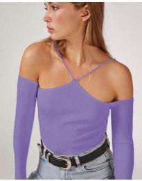 Блуза - код 8063 - виолетова